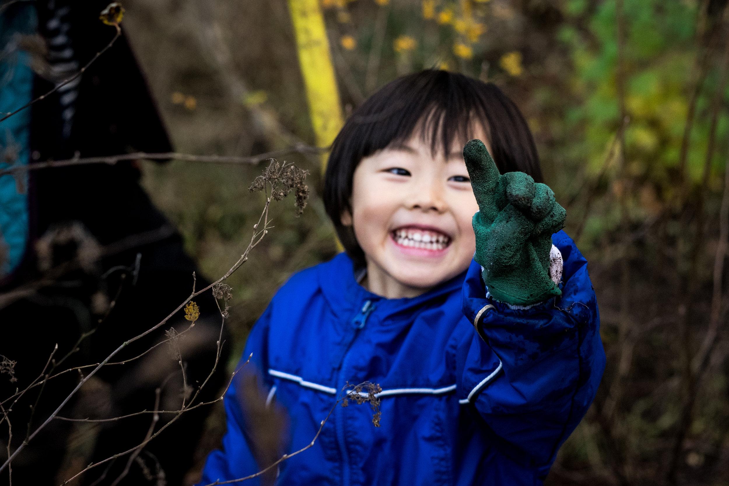 family photojournalism Seattle Japanese boy nature