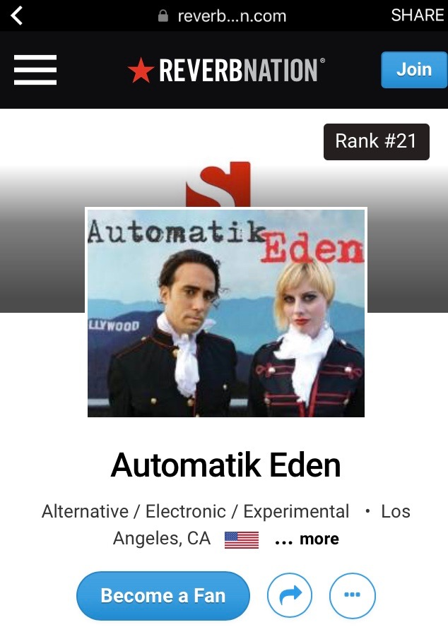 Automatik Eden Reverbnation
