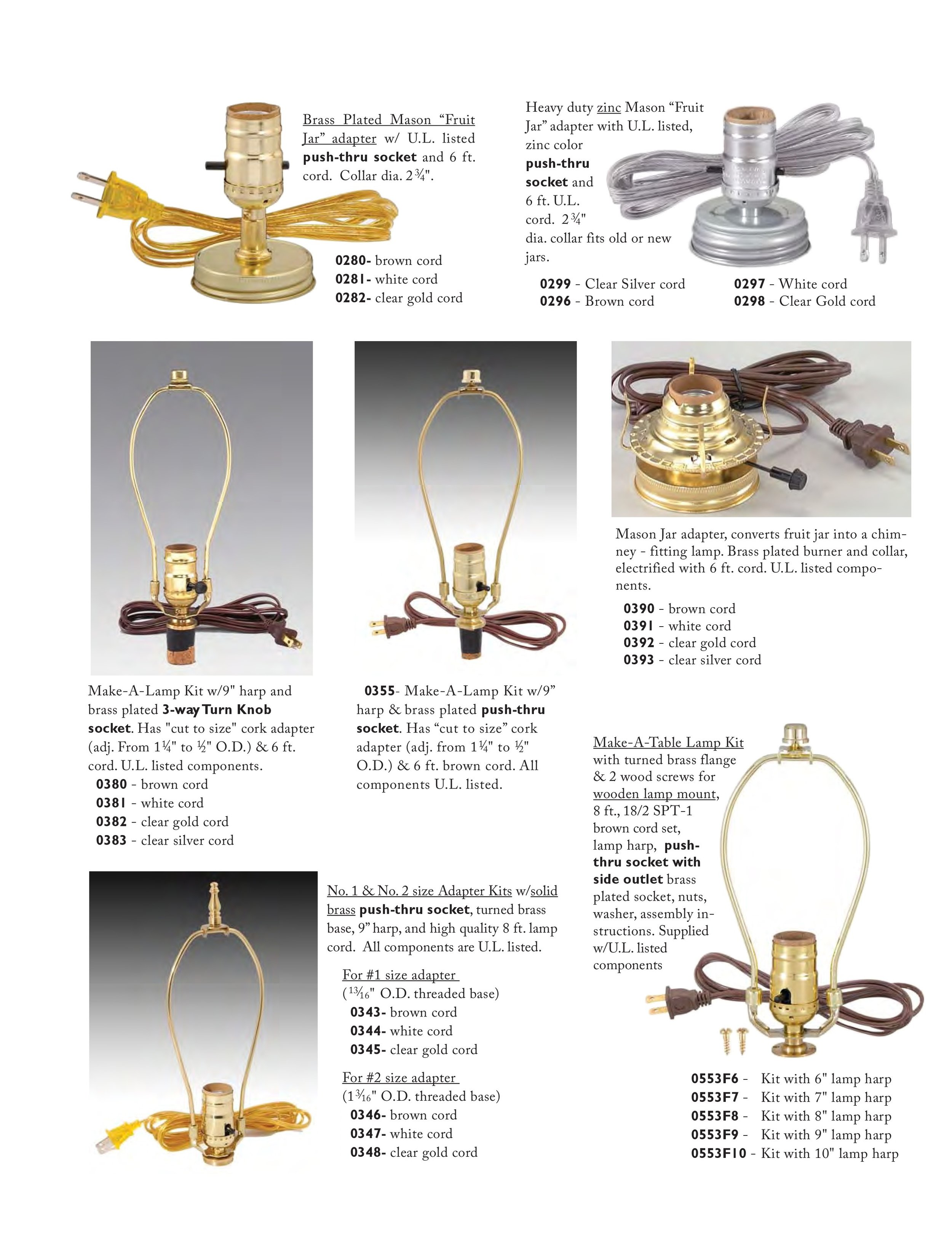 Lamp Kits And Lamp Harps The Lighting Guy Ontario