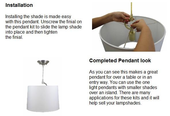 Lampshade Pendant Kits The Lighting