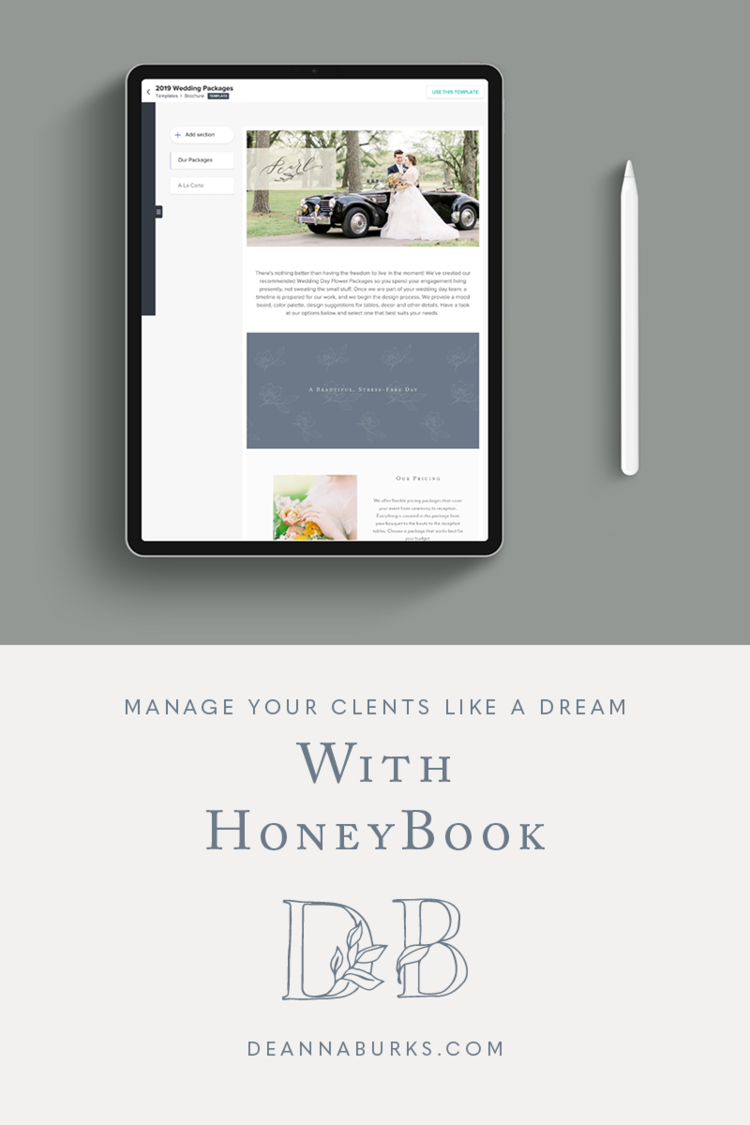 Manage your clients and projects like a dream with HoneyBook