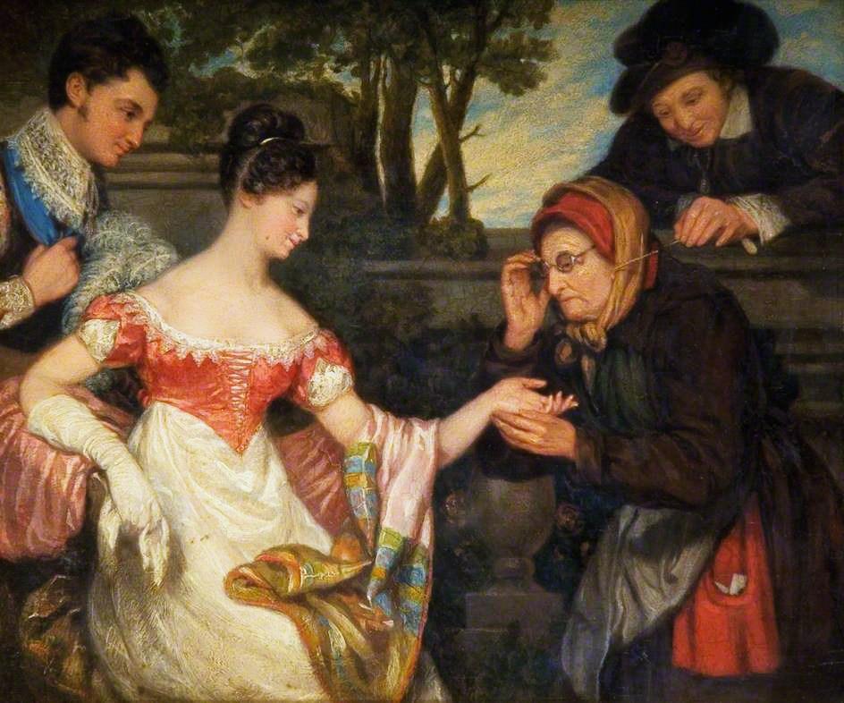Edward Villiers Rippingille (British artist, 1798–1859), The Fortune Teller.jpg