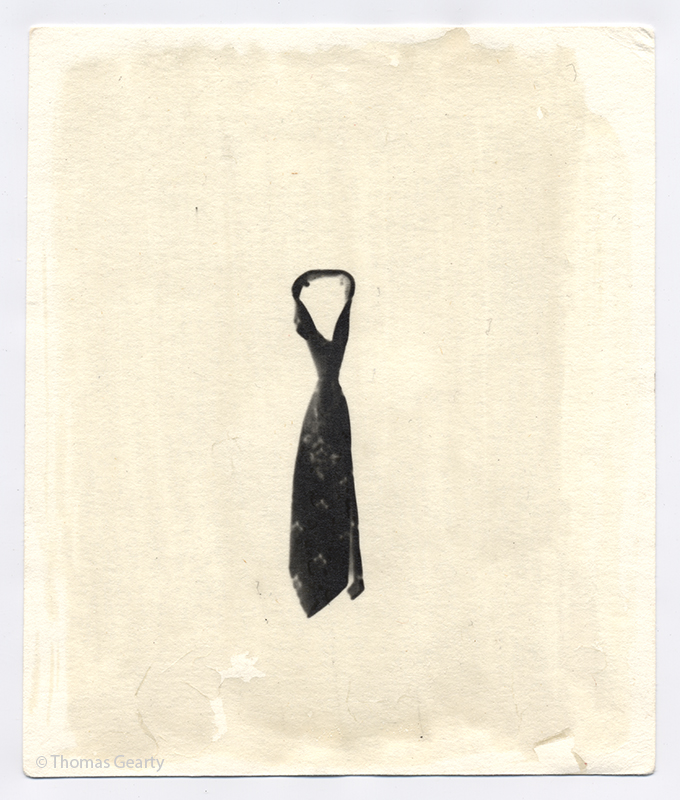 Necktie, from the series Iconotypes   Unique liquid-emulsion print on watercolor paper