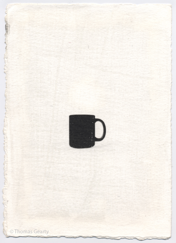 Mug, from the series Iconotypes   Unique liquid-emulsion print on watercolor paper
