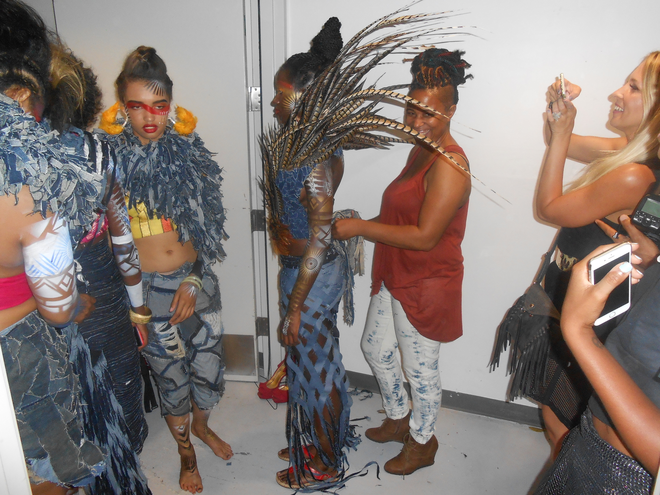 Tanya Jenkins, who was one of the other designers in the show had some awesome pieces that she made out of Jean Material! She also makes some amazing Accessories!!! Tanya has been featured in quite a few things already in San Diego, and is definitely some one to look out for!!!