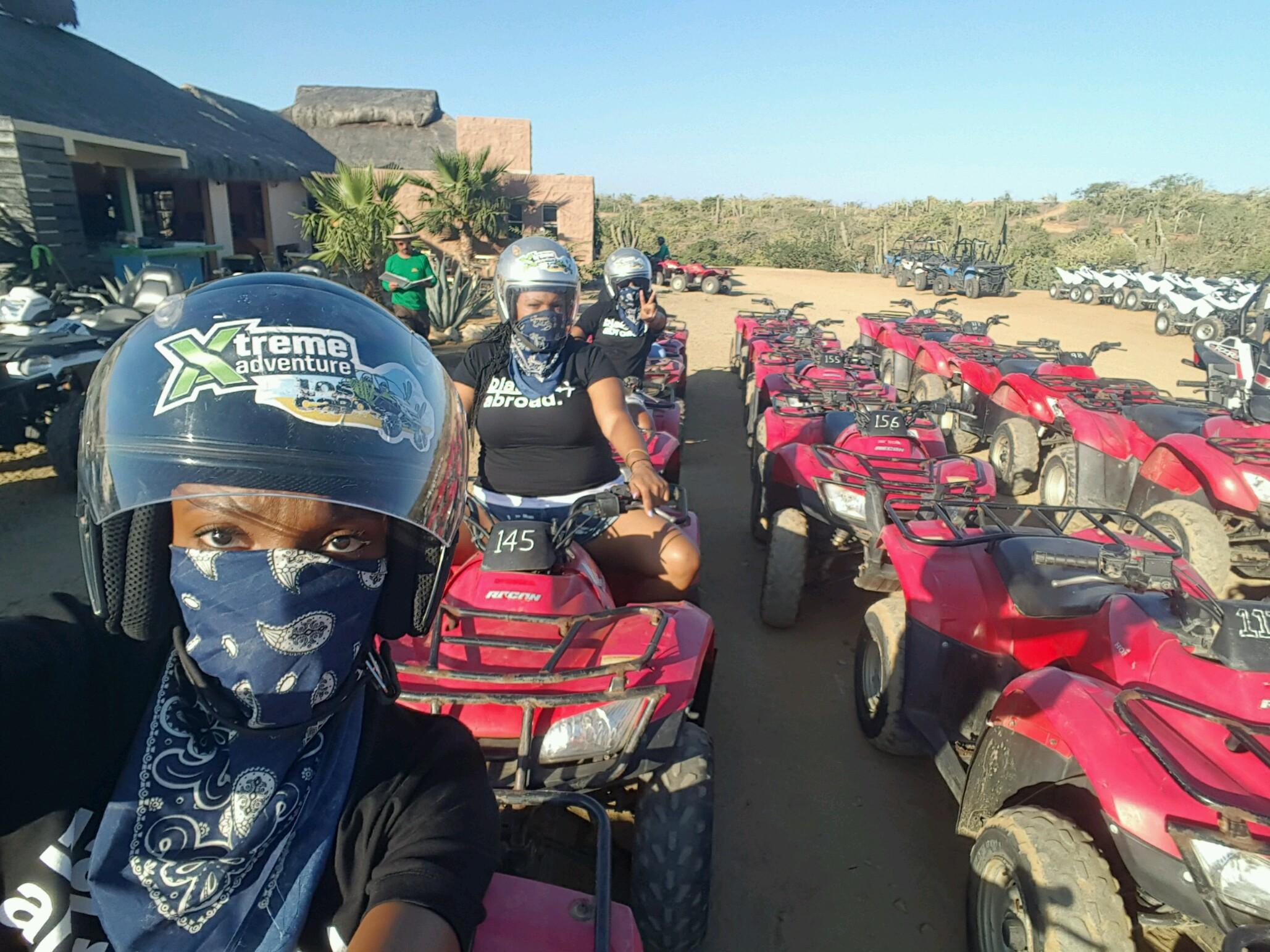 Ready to Ride!!! I was literally covered in Dirt after we finished riding on the ATVs.
