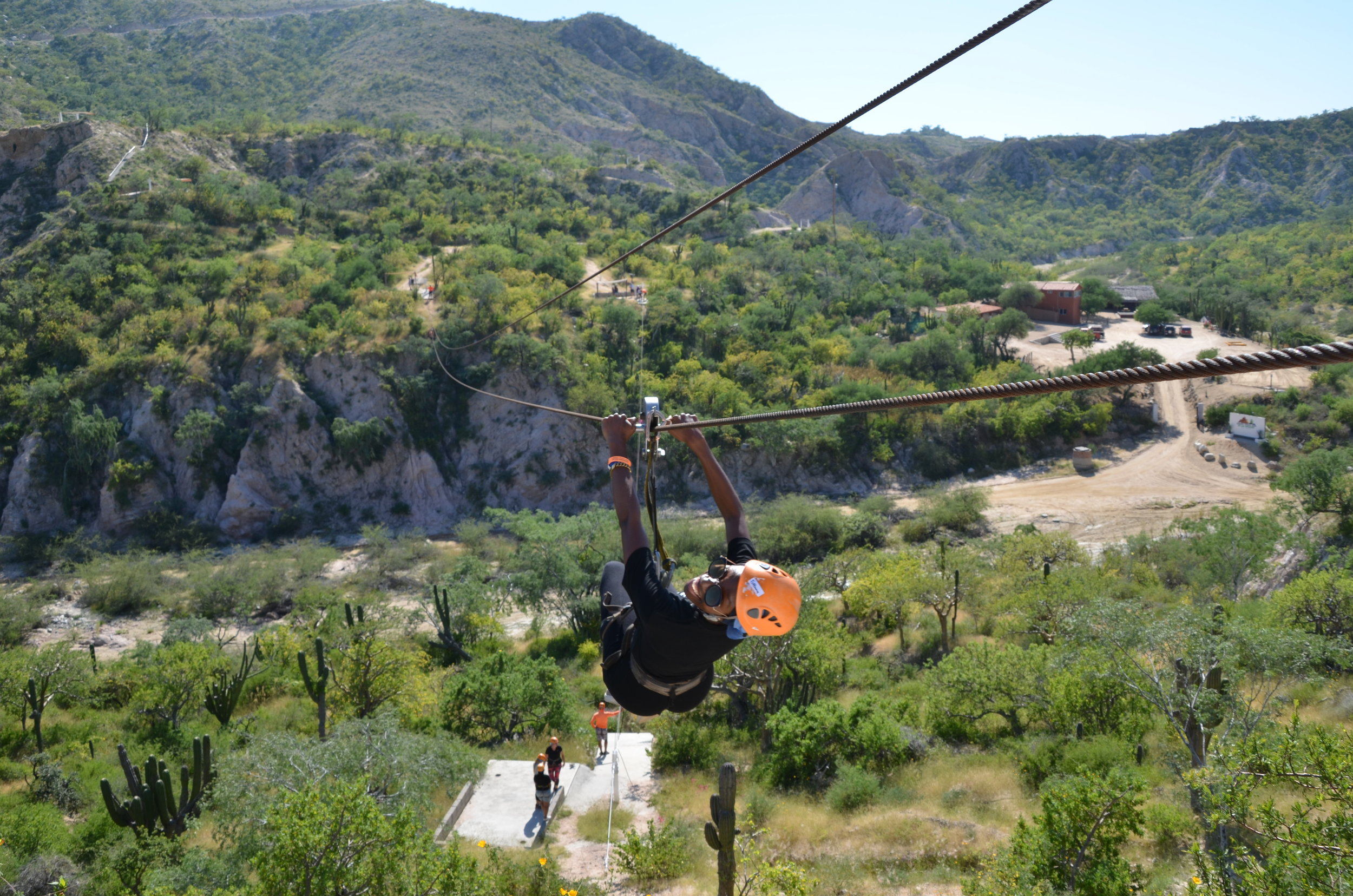 There were I think 7 different zip lines... didn't know there would be so many!!!