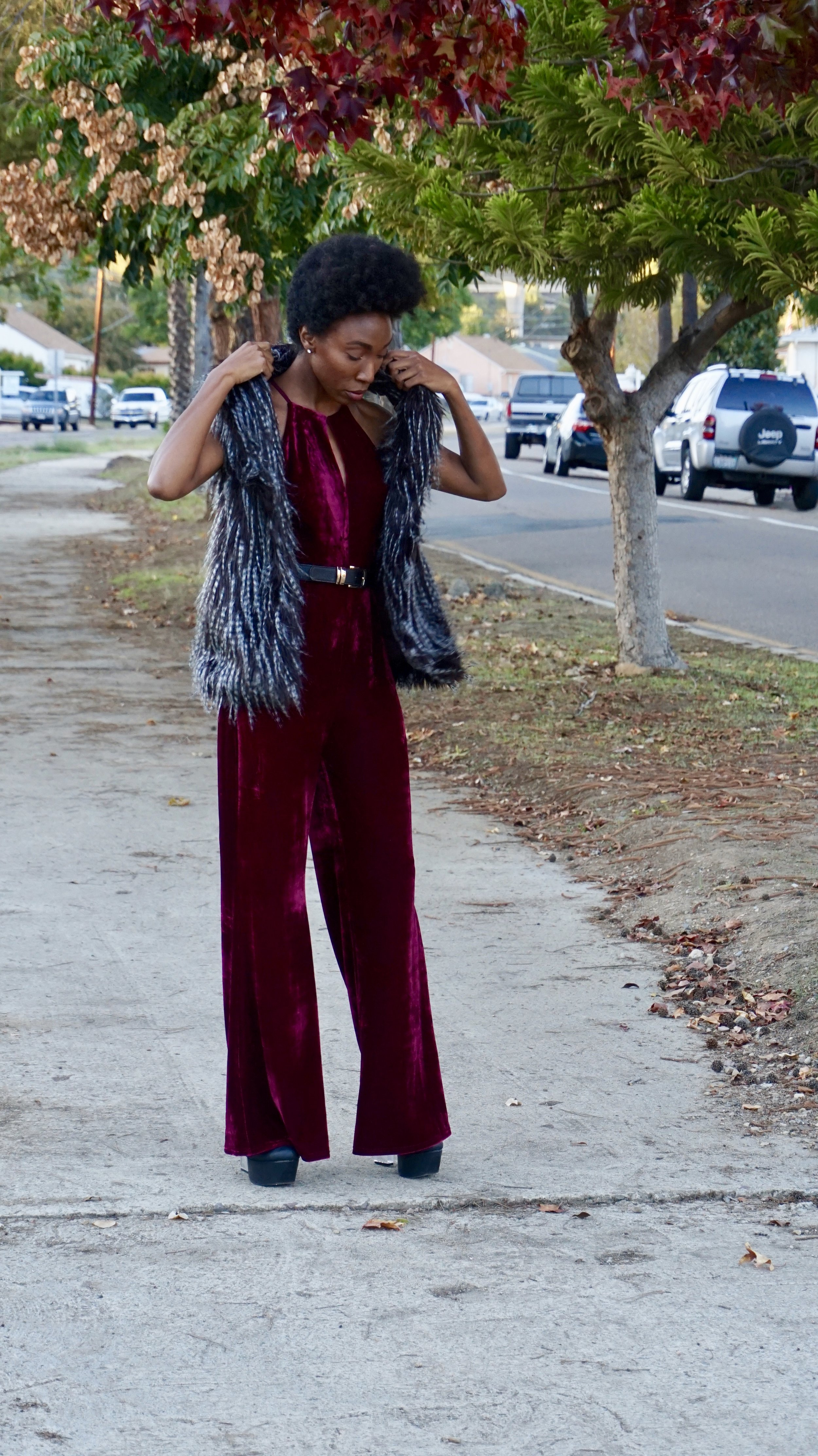 Jump Suit:  Miss Match   Vest:  Miss Match   I just did a Giveaway teaming up with  Miss Match for this look on my  Instagram  this week.  Are you following me??? Check out my IG  @Glitzandglambytiff