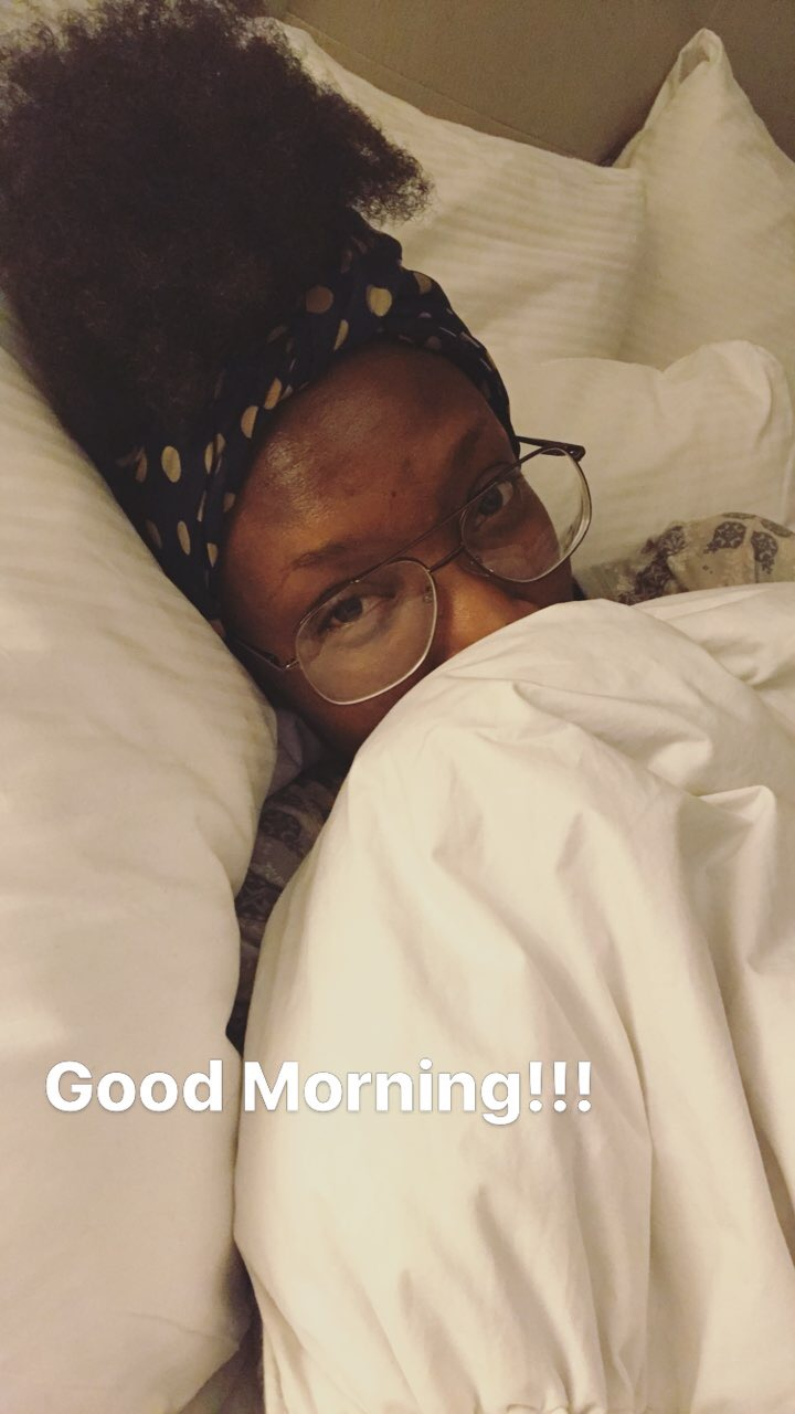 If you followed me on my Snap Chat (@Supa_starT) or Insta Stories (@Glitzandglambytiff) during that day you saw all of the moments live...  The bed was warm and comfortable by the way!!!
