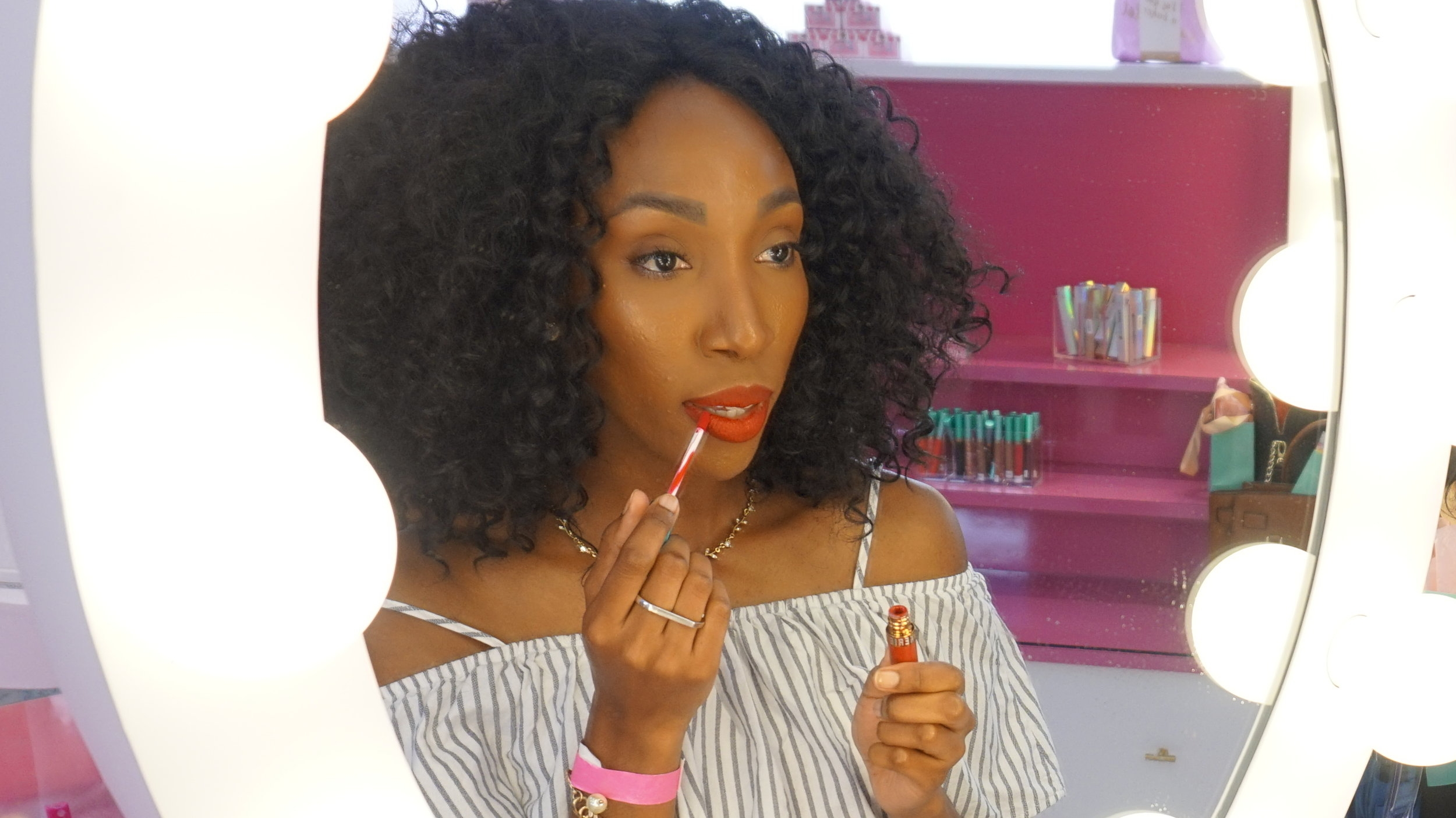 I love the variety of colors in the lip whips!!! my favorite color was this bright red (Mon Cherie). It's perfect for Spring and Summer!!