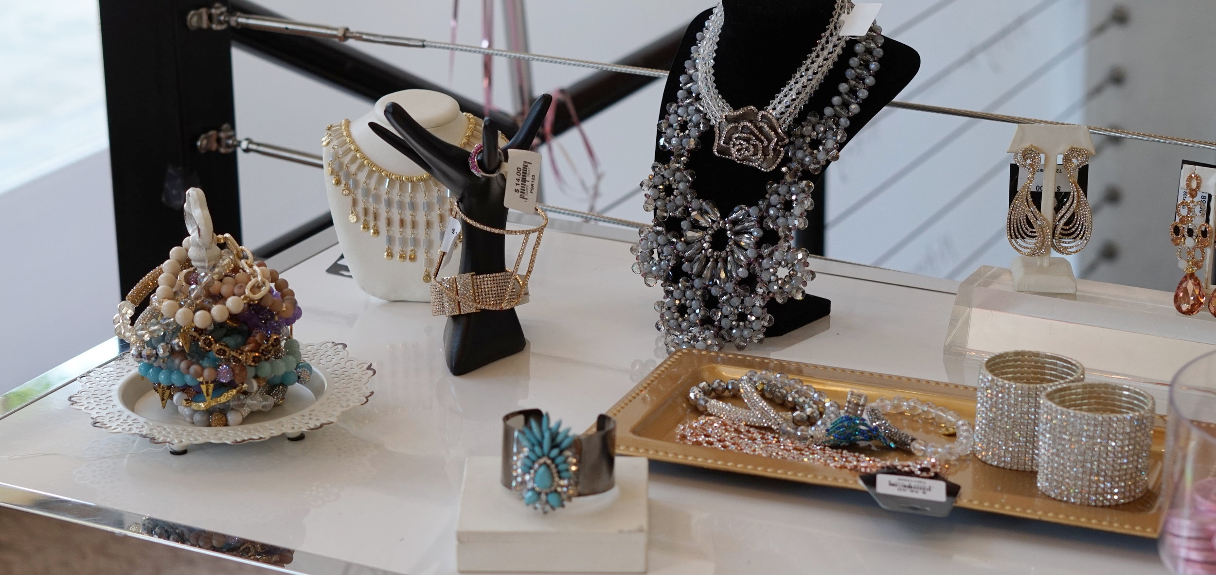 You can't forget about the sparkly jewels!!! There are quite a few unique pieces in the store.