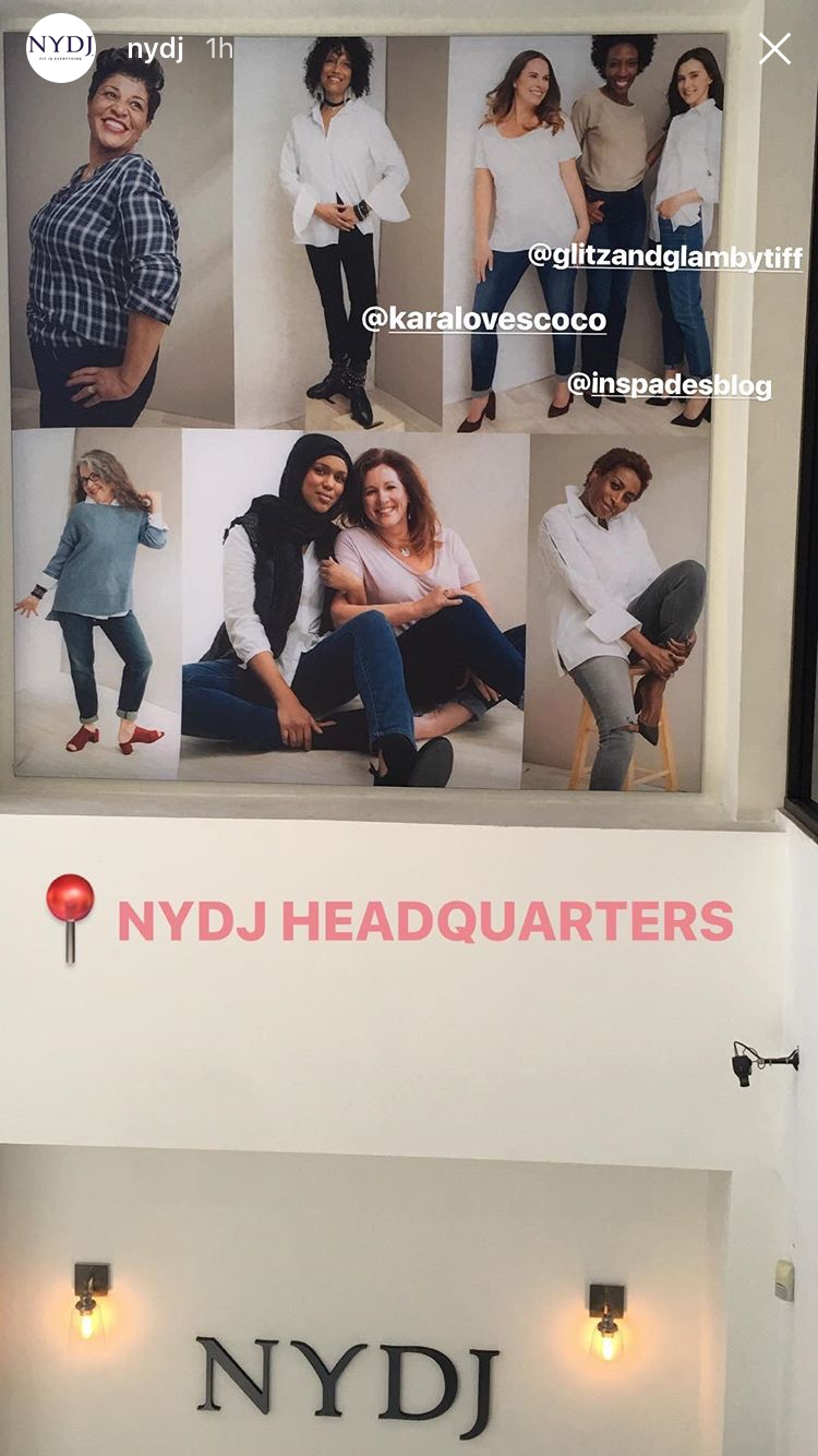 If anyone ever happens to stop by NYDJ head quarters... check us out!!