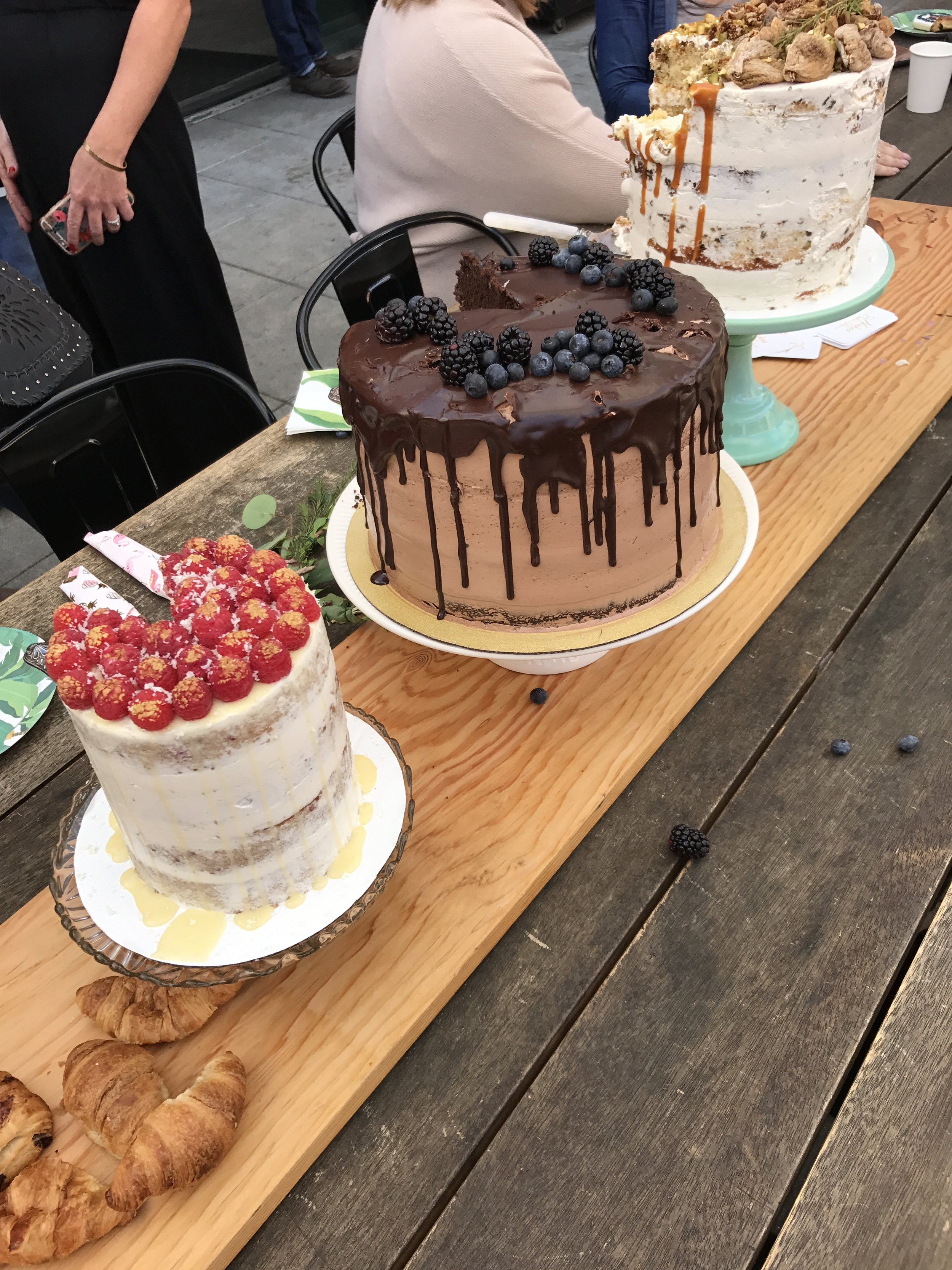 These amazing cakes are from  Naked Cake Farm