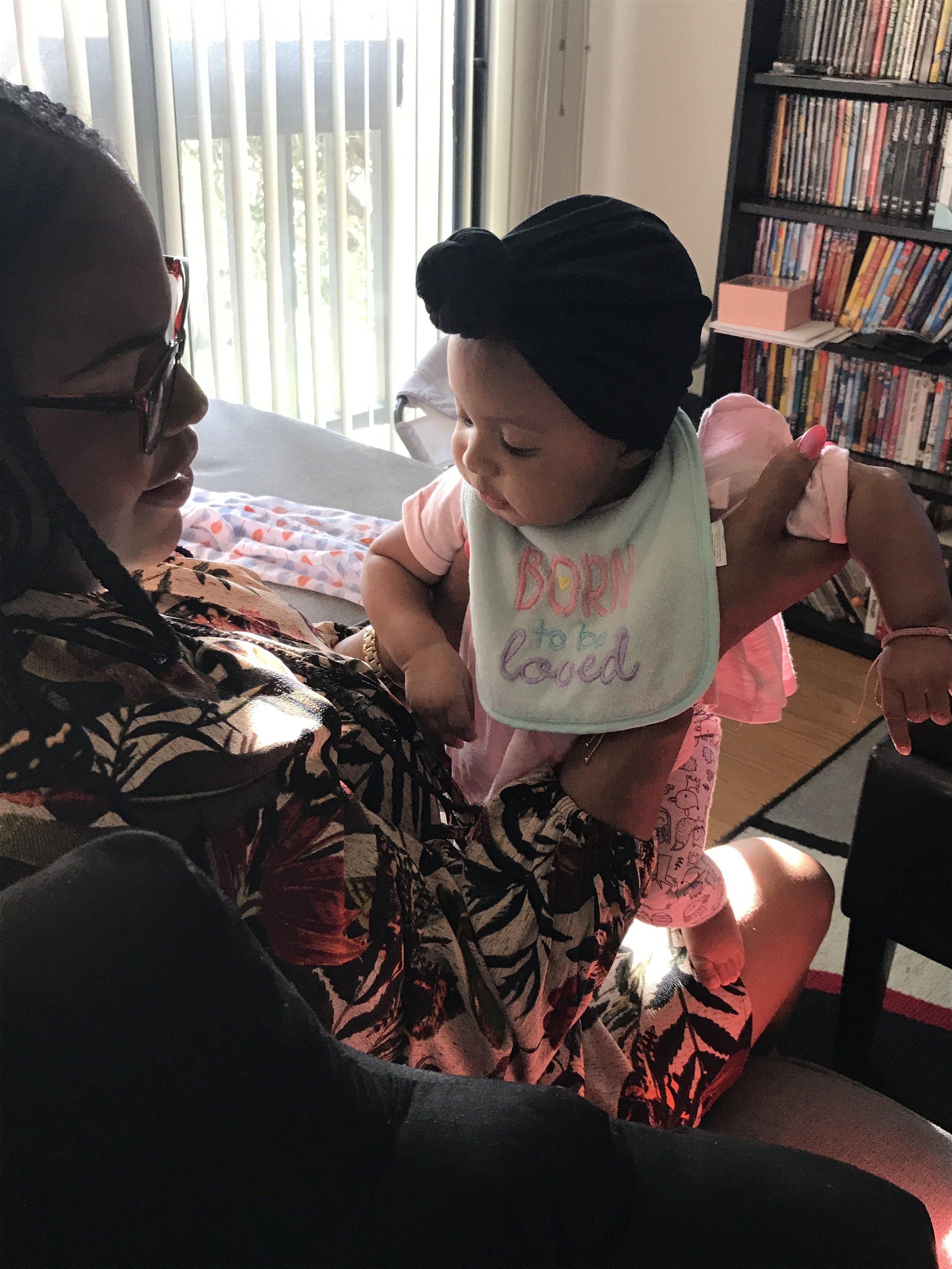 Baby Zoe and Aunty Jazzy