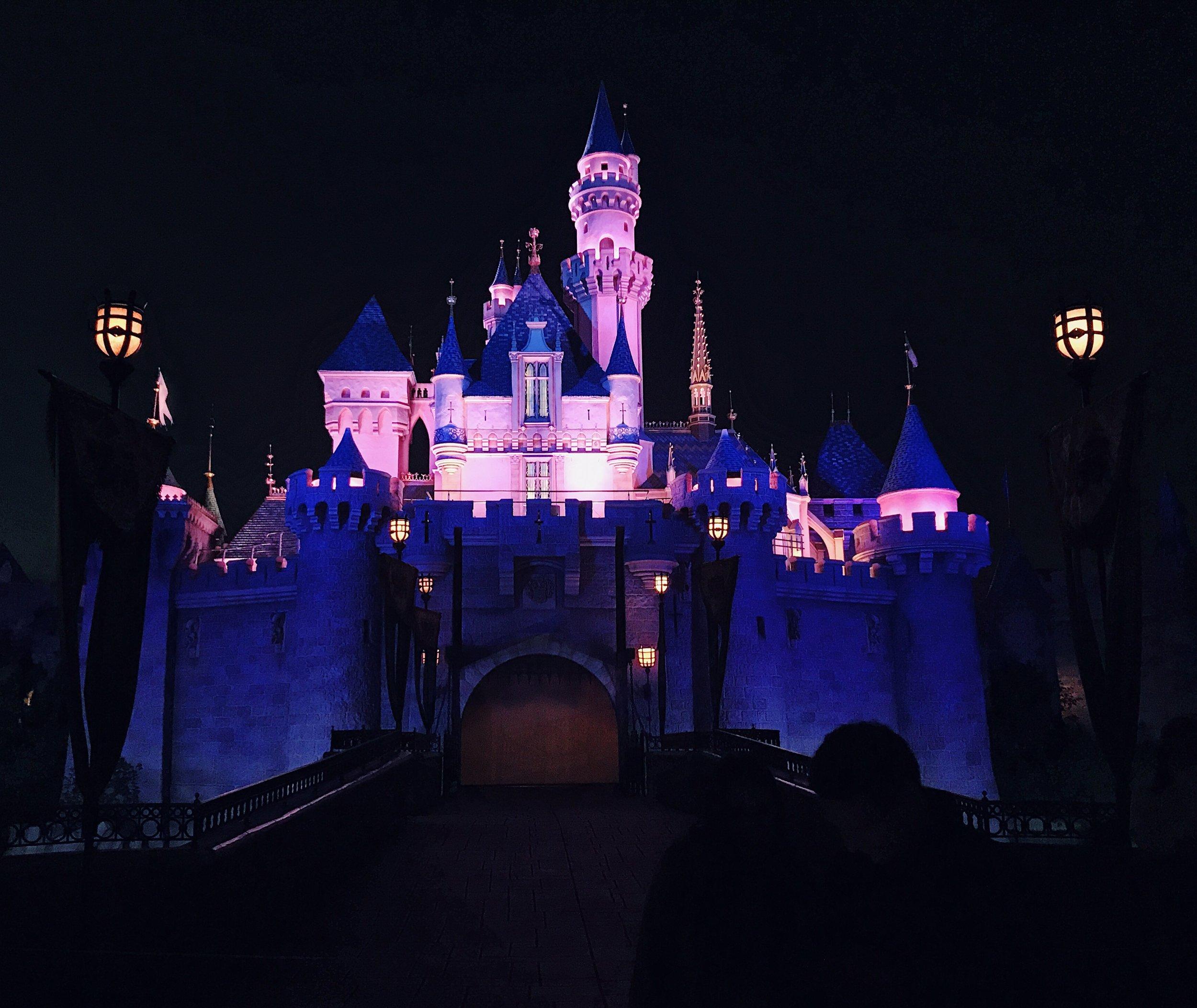 The Castle looks so pretty at night!!!