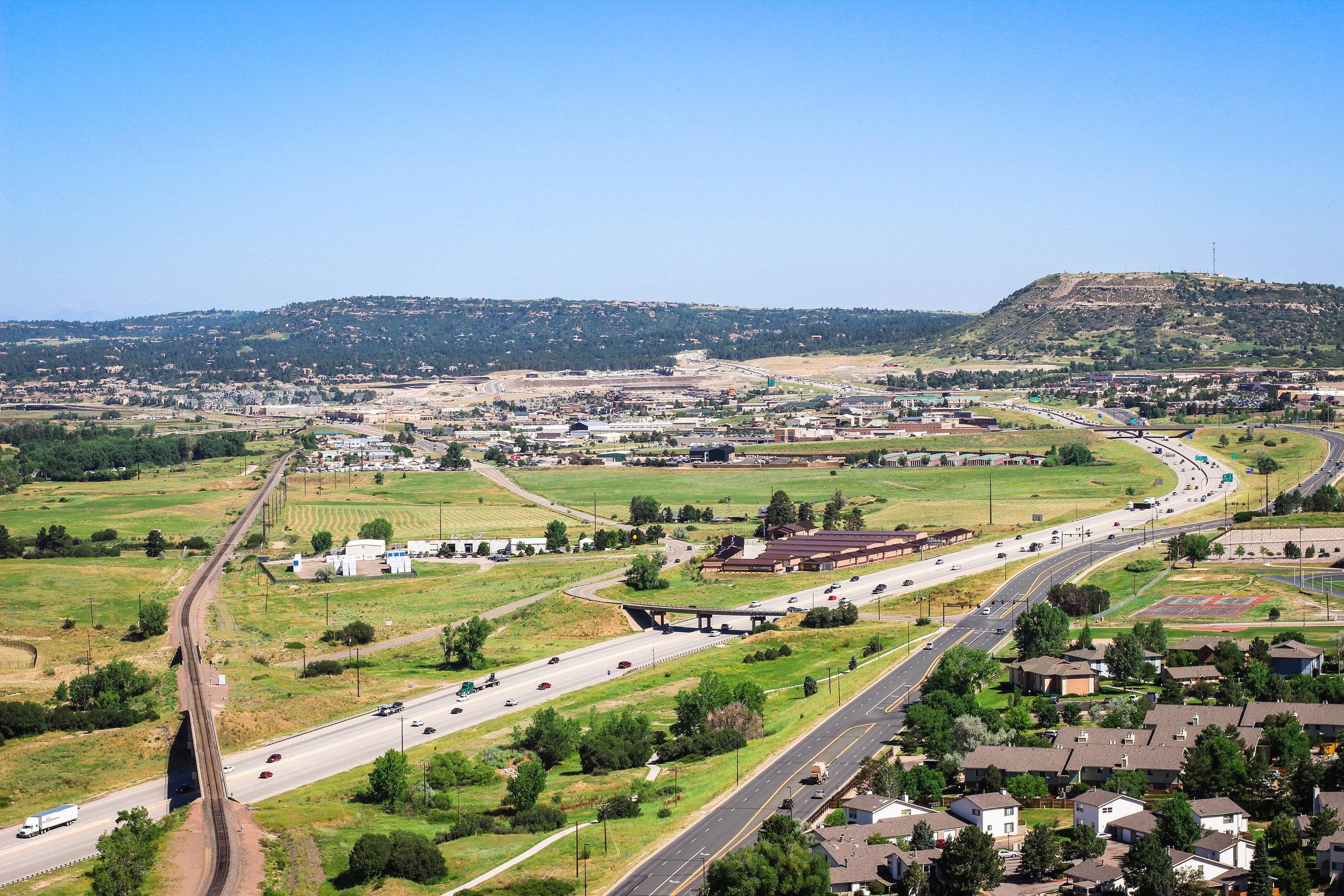 View from Rock Park, Castle Rock,CO