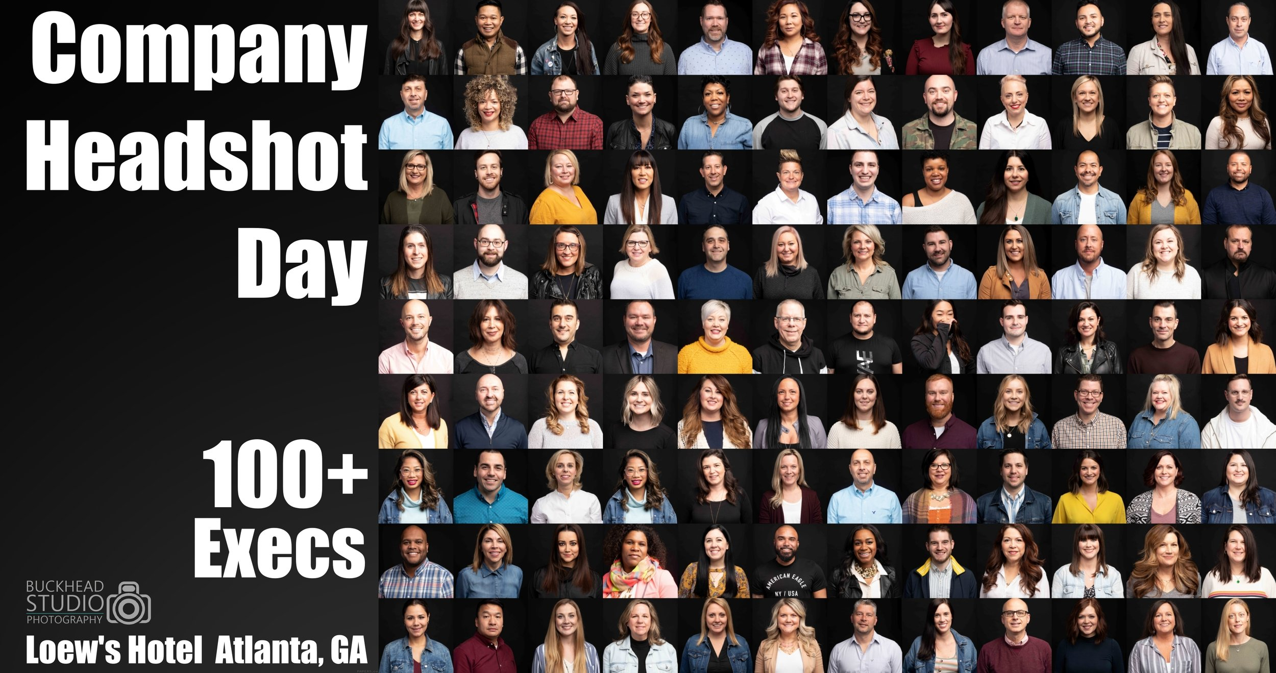 COMPANY-WIDE Group New Headshots   On-Location,   over 100 team members, lOTS OF fUN, 1 Day  - 2019