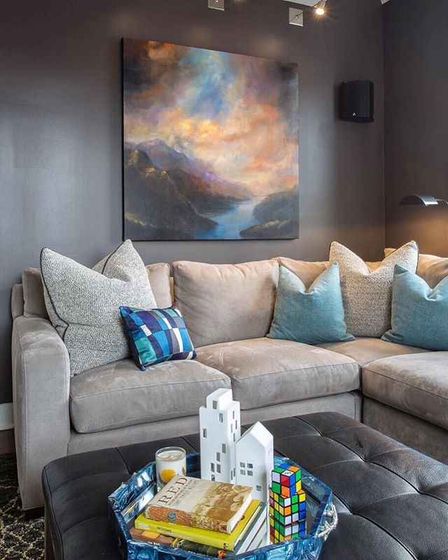 The ideal space for quality family time. Design by hk+c. #hkplusc #familyroom #blue #design #interior