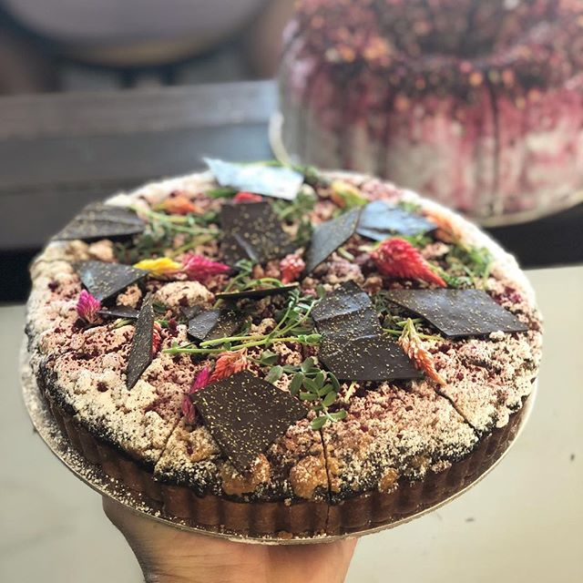 It's a stellar line up in the cakes department this weekend... 😚 🍰 In the front - Raspberry + Chocolate Crumble.  In the back - Chocolate + Beetroot + Caramel Bundt Cake.  Thanks Gareth @covered_in_crumbs ✌️ . . . #coveredincrumbs #gfys #thekiosk #thekiosknewcastlebeach #newcastle #mynewcastle #newy #newycoffee #newyeast #eastend #hellonewyeast #newylife #newybeach #newcastlebeach #redhot #beach #coffee