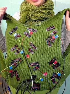 gaze-controlled vibrating vest