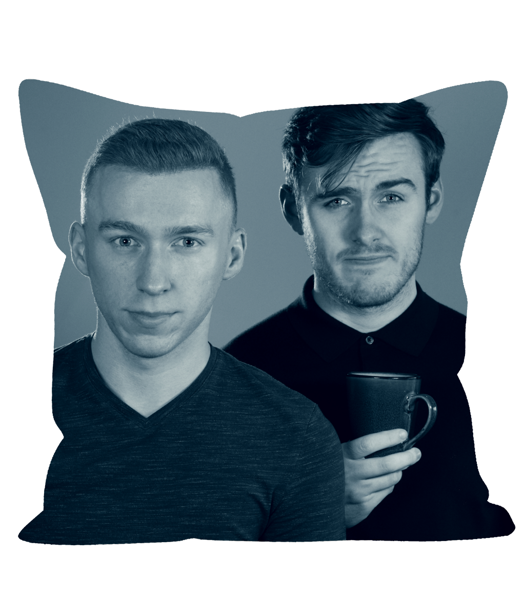 This is a mock-up of how it'll look. The back will also have the  Dodging Death Podcast  logo! It'll be of decent quality - certainly very usable - but don't expect John Lewis standard of soft furnishing. More of a two pack from B&M. As we say though, it's free and exclusive.