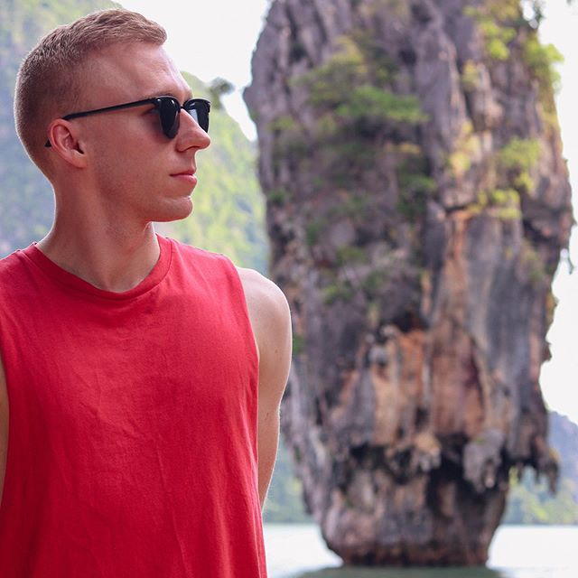 They filmed a James Bond movie here. I'm hoping that by wearing sunglasses and looking into the distance they'll cast me as the next one... #fingerscrossed . . #travelgram #travelblogger #jamesbondisland #thailand