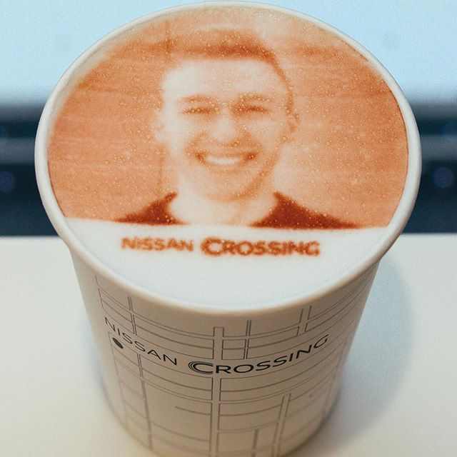 @Nissan printed my face onto a latte. Coffee has never been more delicious... . . . #arabica #coffeebar #coffeelover #sipstephen