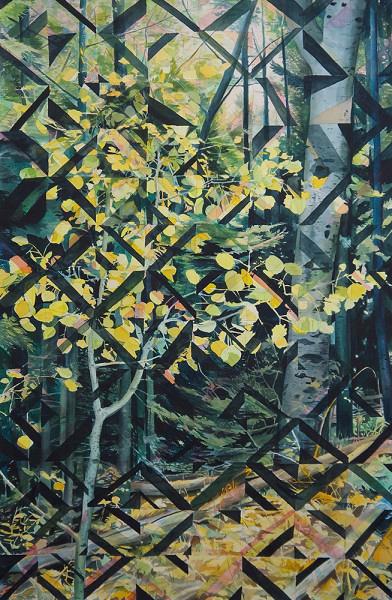 "Chicoma, Matt Mullins, 58x38"" acrylic ink and watercolor"