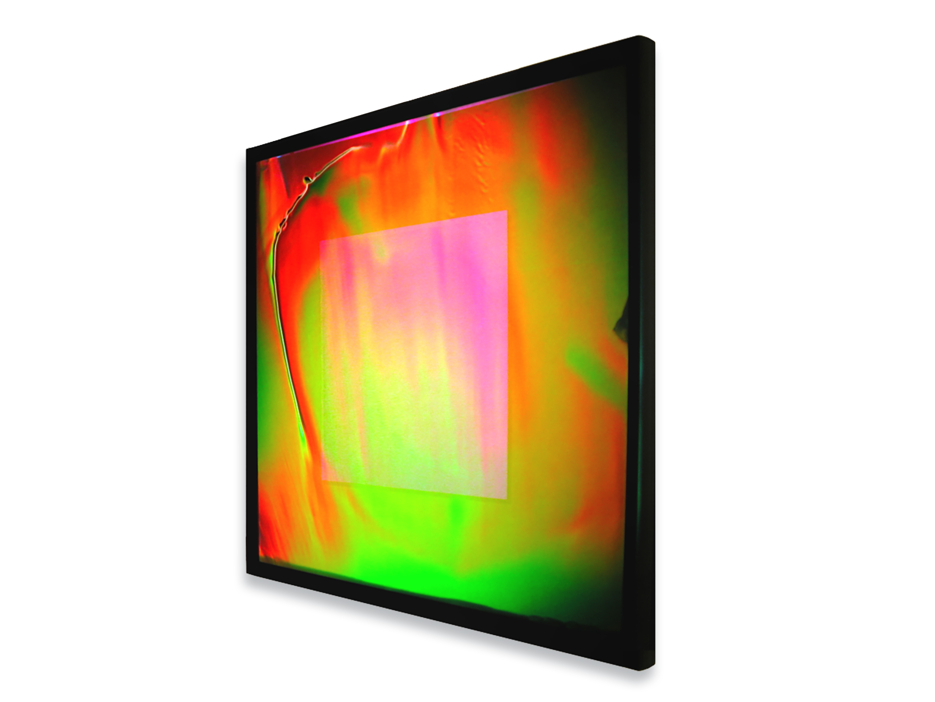 Quantum Immersion by August Muth, hologram laminated in glass, photo from OTA Contemporary