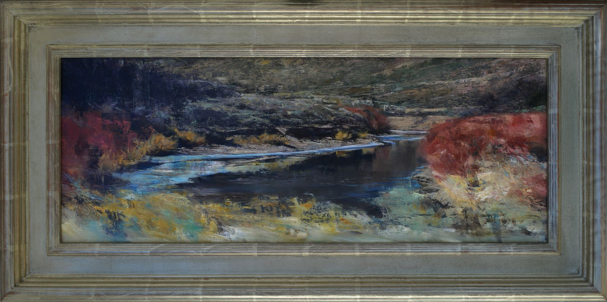 Douglas Fryer, Sage and Spring Willows on the Sevier River ,oil, 12 x 30 1/4 in.