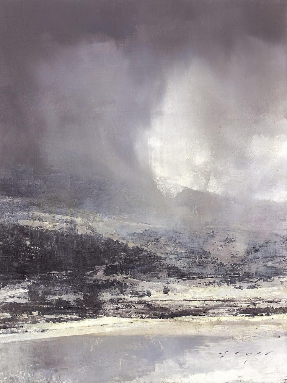 Douglas Fryer, Mountain Storm ,oil, 12 x 9 in.