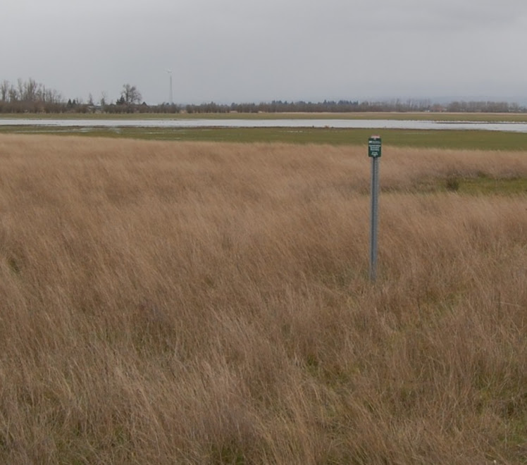 Properties are surveyed and marked as U.S.D.A. Wetland Reserve Program.