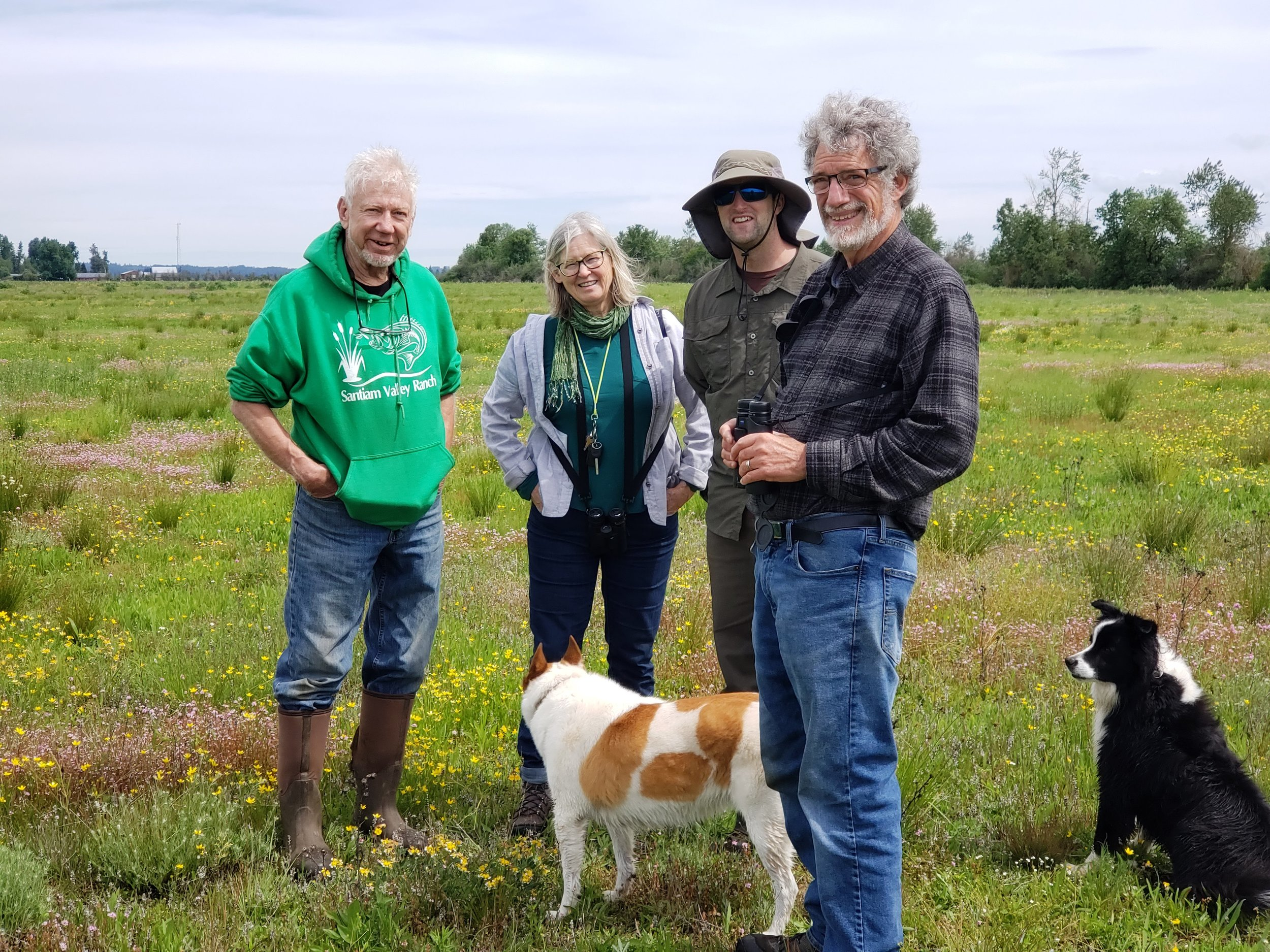 Ken, Jane, Luke Fitzpatrick, Mark and our Sauvie Island buddies, Ray and Katie.