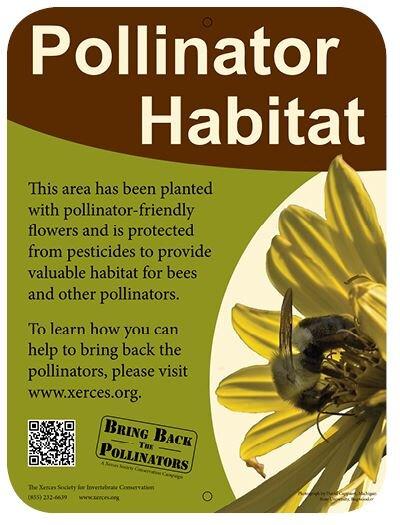 xerces pollinator habitat sign.JPG
