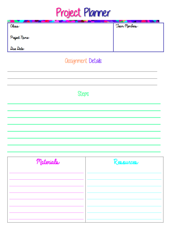 FREE PROJECT PLANNER PDF!