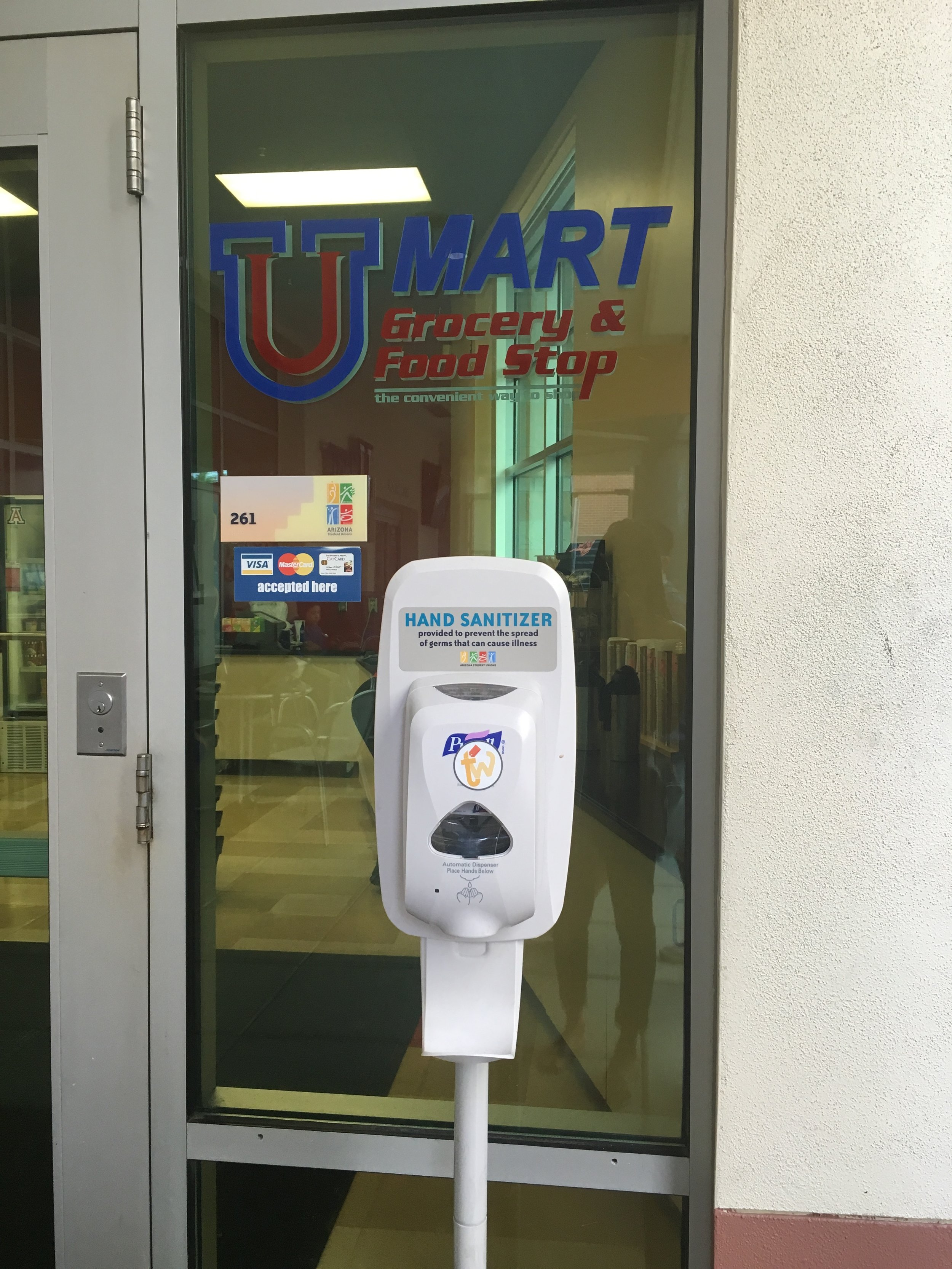 Many students (that live on campus), do their grocery shopping at the UMart (which is also located in our main student union). It is clean and has more of a variety of healthier options.