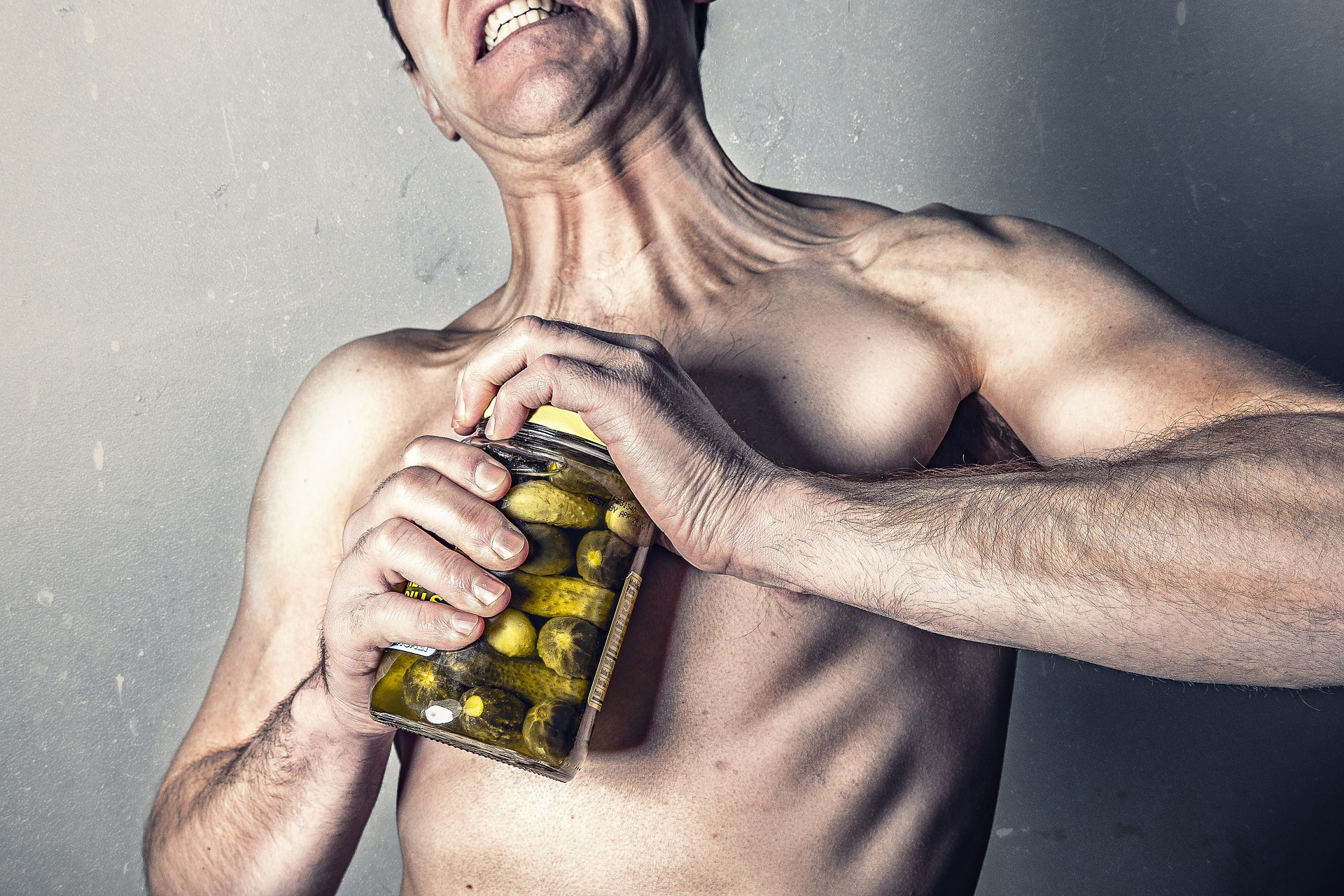 Do you ever feel like this guy after a workout trying to open something? You don't have to.