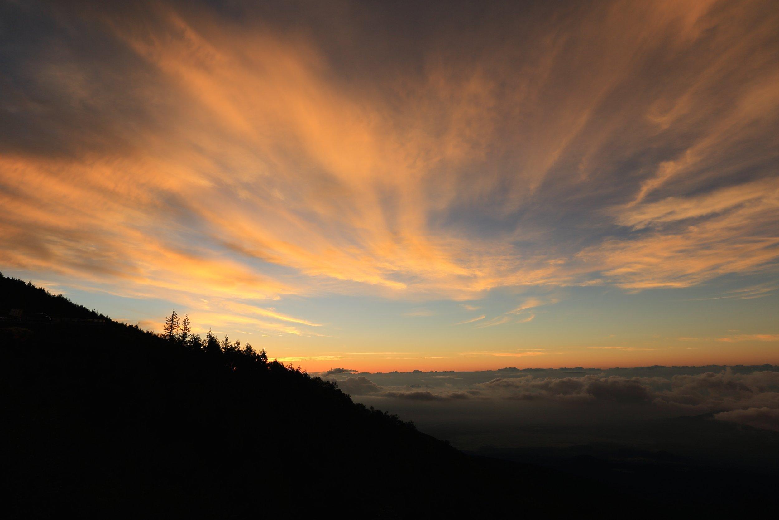 Beautiful sunrise to workout