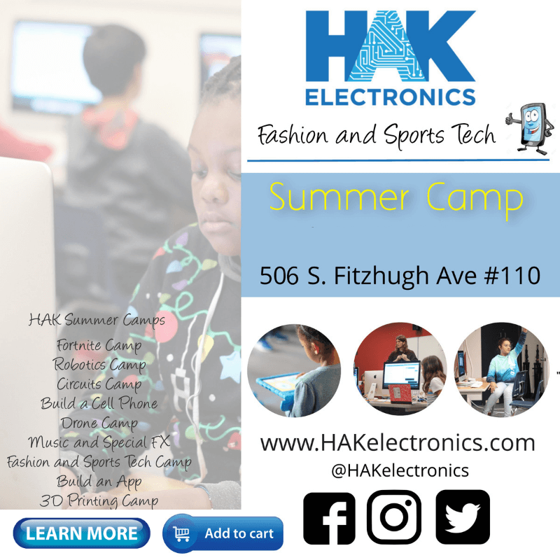 Fashion / Sports Tech Camp - Week 1: July 15th - 19th