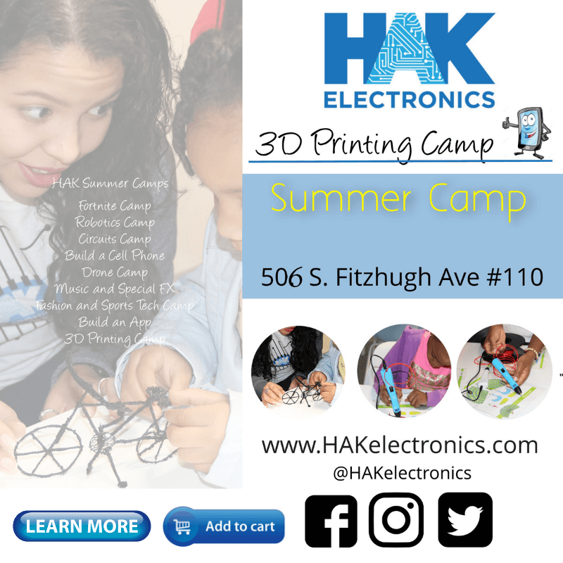 3D Printing Camp - Week 1: August 5th - 9th