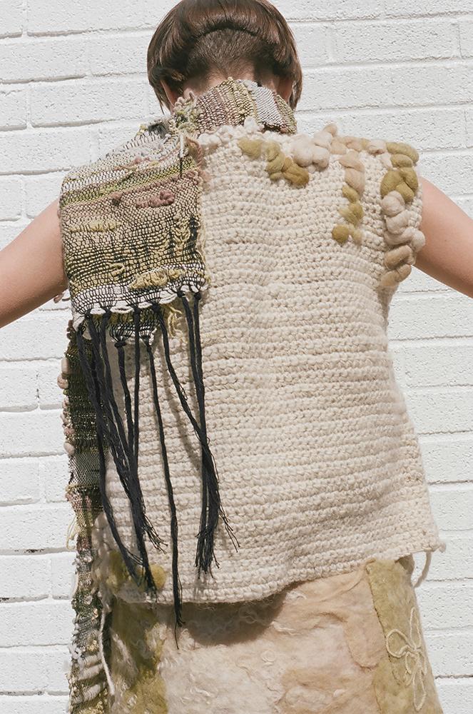 Nica Rabinowitz crochet woven felt fashion