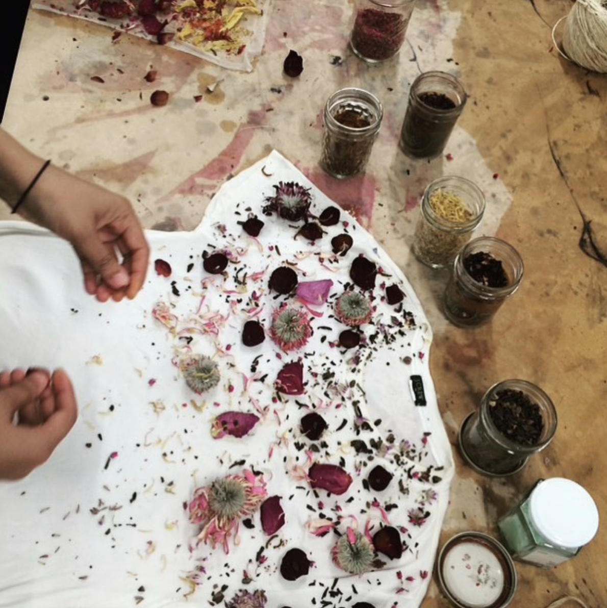 fiberhouse collective flower dye workshop