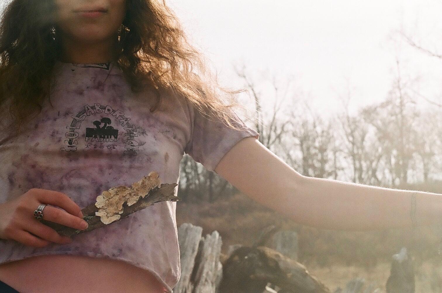 fiberhouse collective Nica Rabinowitz magic mycelium shirt