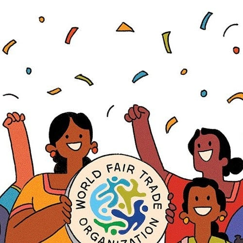Happy to share the news:  Rice & Carry is now a guaranteed member of the @wfto_fairtrade 🎉🎉🎉🎉🎉 It took 3 years to get there and we are looking forward to being a part of the fairtrade community!  Thanks @isuri.mh for another  awesome illustration!  #wftoguarantee#wftoasia#wfto#fairtrade#socialenterprise#knowyourmaker#srilanka#fairtradefashion
