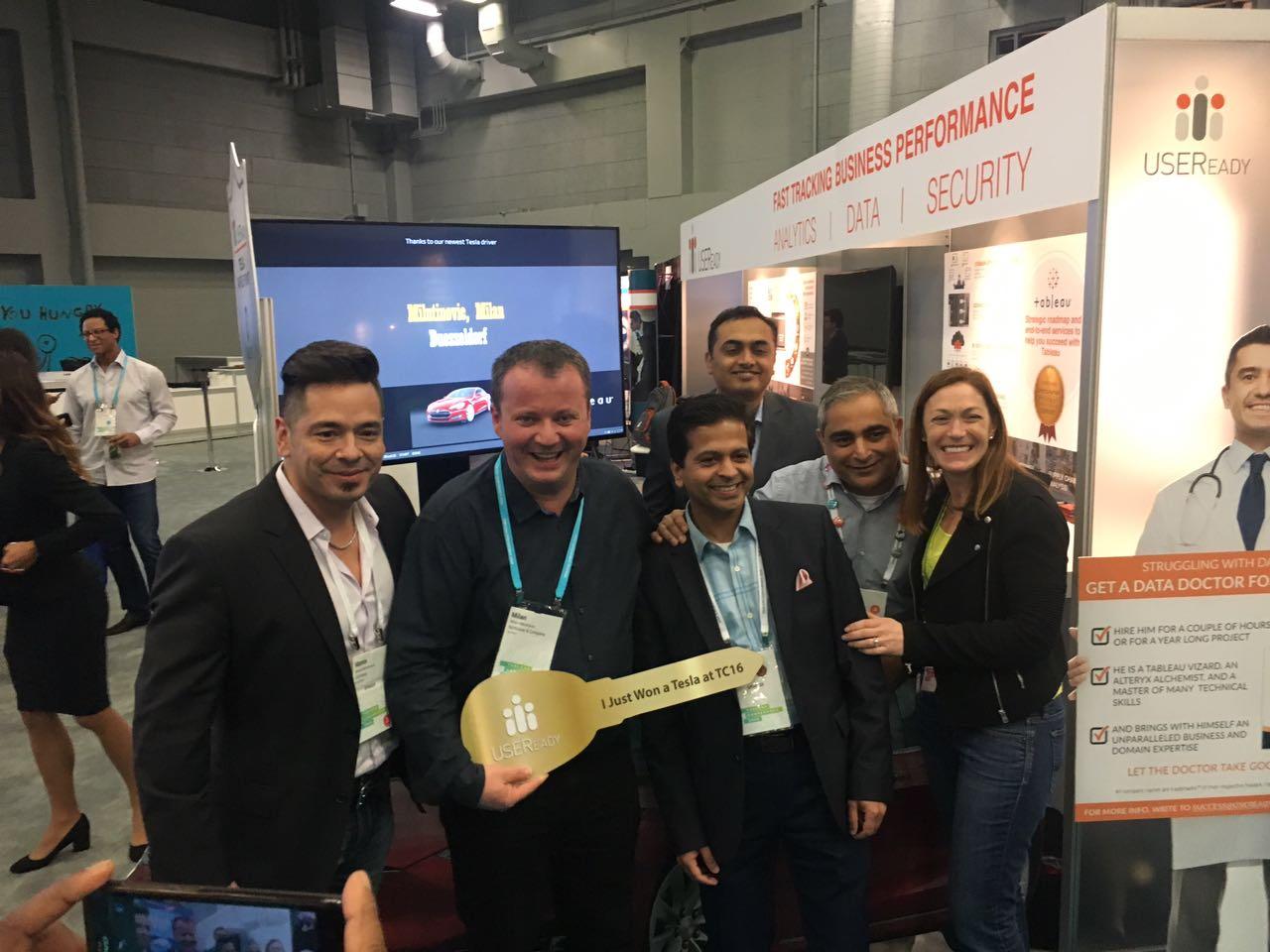 Milan - Winner of USEReady's Tesla raffle with Team USEReady