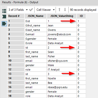 Converting JSON data into flat structure using Alteryx