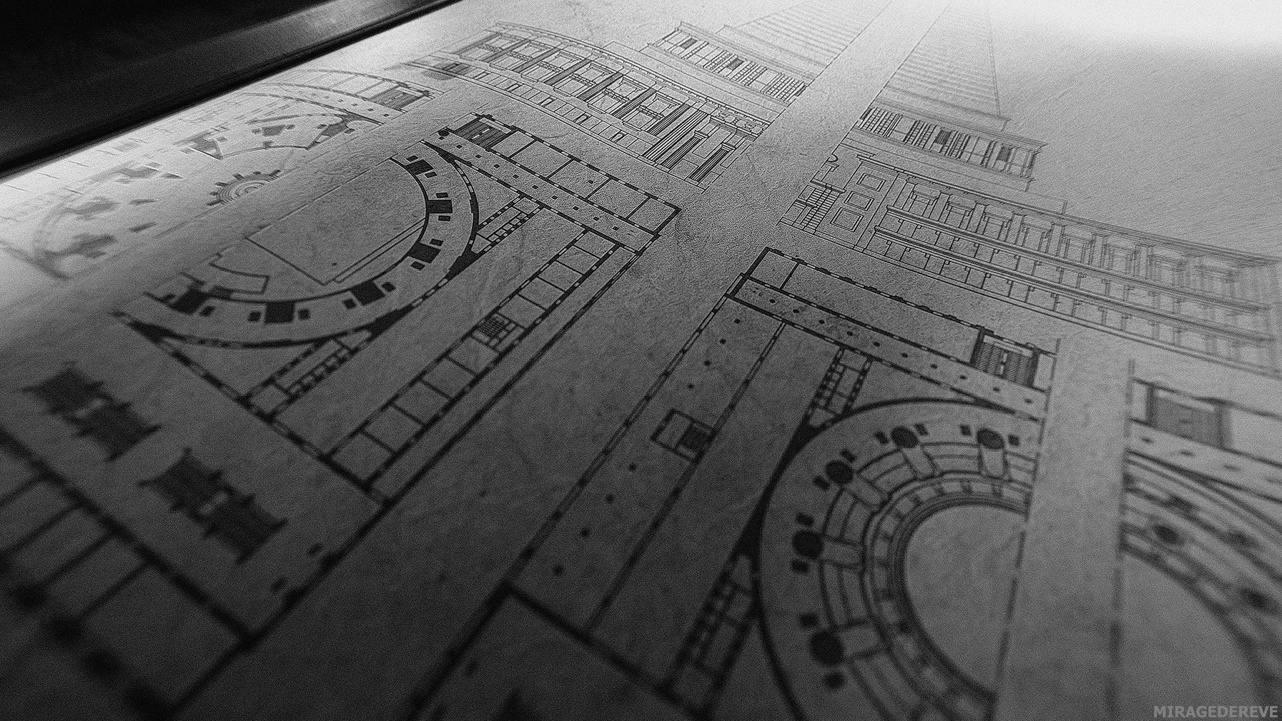 IMAGE 001:  Cathedral of Freedom, blueprints