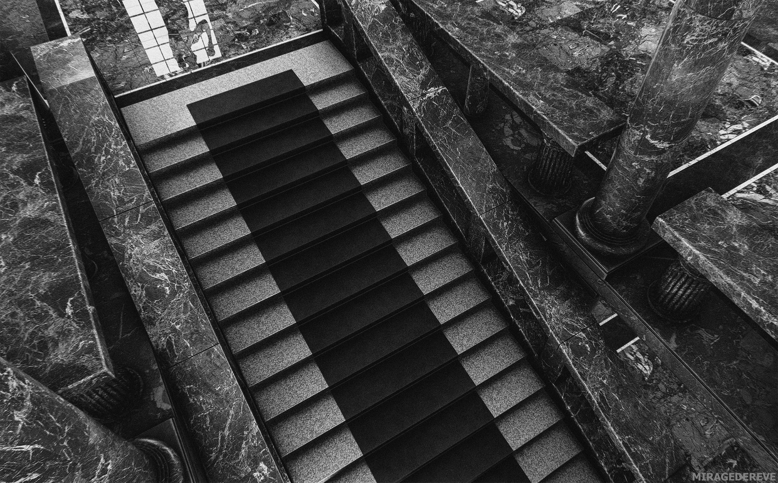 IMAGE 008:  Stairs 002, inspired by the interior of National and University Library of Slovenia
