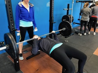 The Set up - -sit back on bench and lay back down-eyes on bar or just under-palms on the bar evenly ( use knurling ) – NEVER SUICIDE GRIP!!!-your shoulders pinched -lats are active-back engaged, -hips and legs are tight – squeeze your butt!