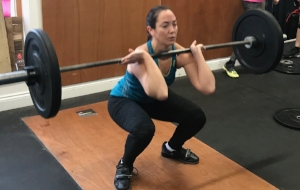 Ruth in her Barbell Club Session